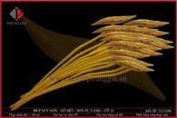 Lá búp sen non gỗ mít sơn vàng cỡ 16