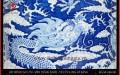 Lộc bình cao 1m7 men trắng xanh vẽ Cửu Long lơ băng