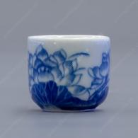 Chén thờ men trắng xanh vẽ hoa sen bán lẻ V20ml